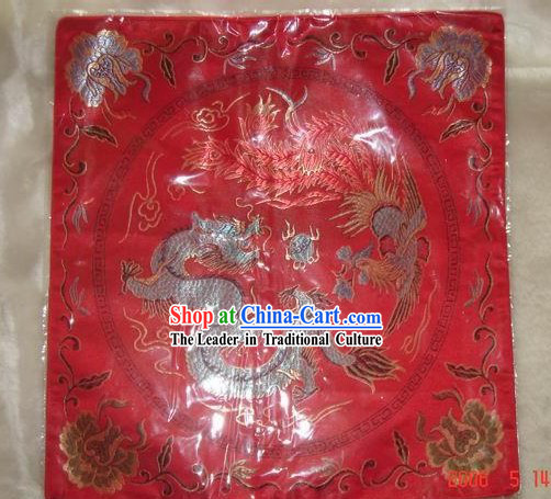 Dragon Phoenix Cushion Cover of Chinese Traditional Wedding