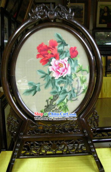 Chinese Double-sided Embroidery Handicraft-Blooming Peony