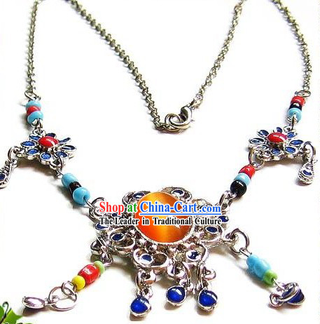 Tibetan Stunning Ancient Type Necklace-Daughter of Sun