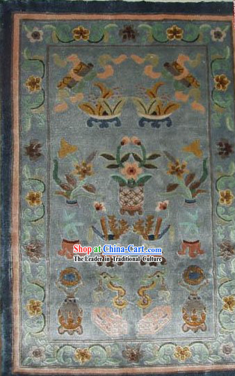 Art Decoration Chinese Hand Made Thick Natural Silk Rug_60_80cm_