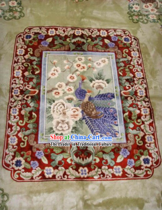 Art Decoration Chinese Large Hand Made Thick Natural Silk Rug(250*305cm)