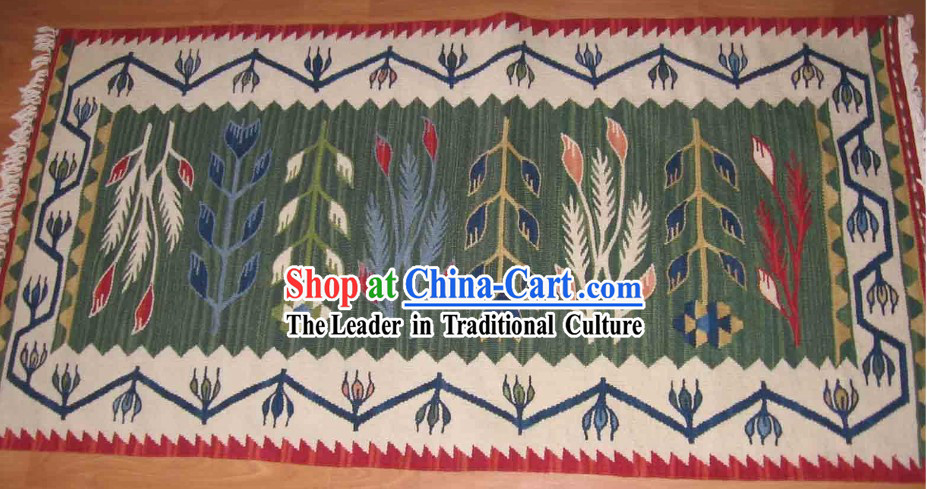 Art Decoration China Tibetan Large Hand Made Wool Rug (70*135cm)