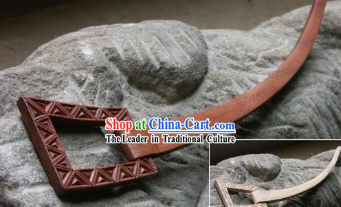 Hand Carved Chinese Traditional Walnut Hair Pin _Hairpin_-Spring