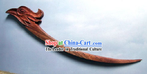 Hand Carved Chinese Traditional Walnut Hair Pin _Hairpin_-Phoenix