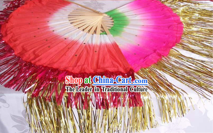 Chinese Traditional Golden Fringe Dance Fan