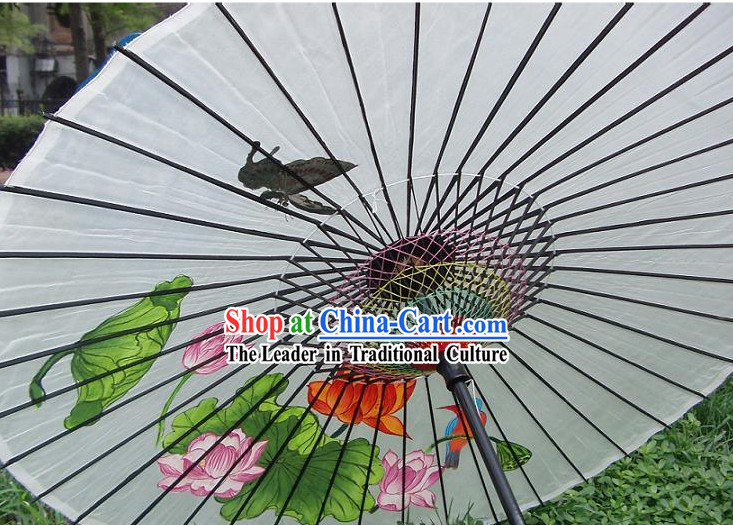 Chinese Hand Made and Painted Adult Size Silk Wedding Romantic Umbrellas_Parasols