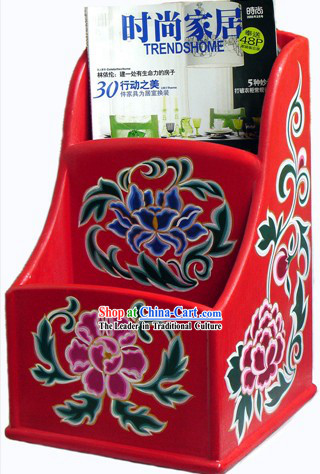 Chinese Coloured Painting Book (Newspaper) Box/Cabinet
