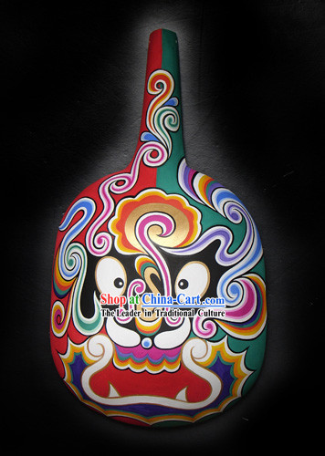 Chinese Hand Painted Du Huo Ma Shao Hanging Mask 2
