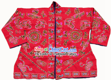 Chinese Stunning Miao Tribe Hand Embroidery Collectible-Emperor Jacket