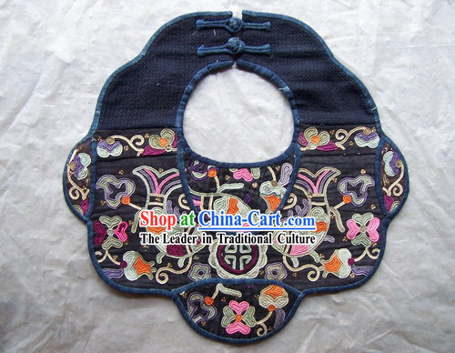 Chinese Stunning Miao Tribe Hand Embroidery Collectible-Cover of Baby Eatting