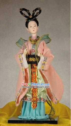 Handmade Peking Silk Figurine Doll - Li Qingzhao _Ancient Poet_