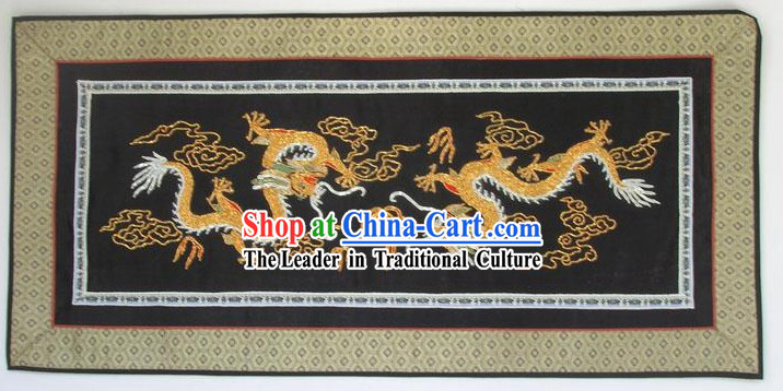 Chinese Hand Embroidered Handicraft-Dragons
