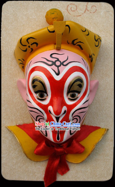 Handcrafted Peking Opera Mask Hanging Decoration - Monkey Sun of Western Journey