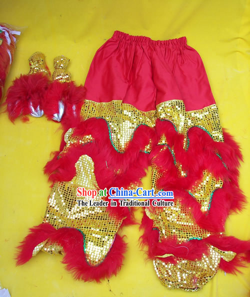 Top Quality One Pair of Lion Dance Pants and Claws