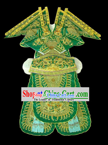 Professiona Beijing Opera Costumes - Da Kao with Golden Embroidery for Men