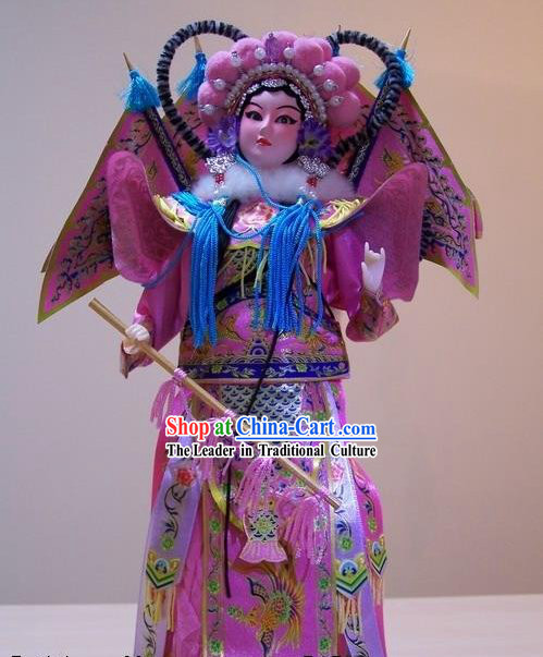 Handmade Peking Silk Figurine Doll - Women Hero