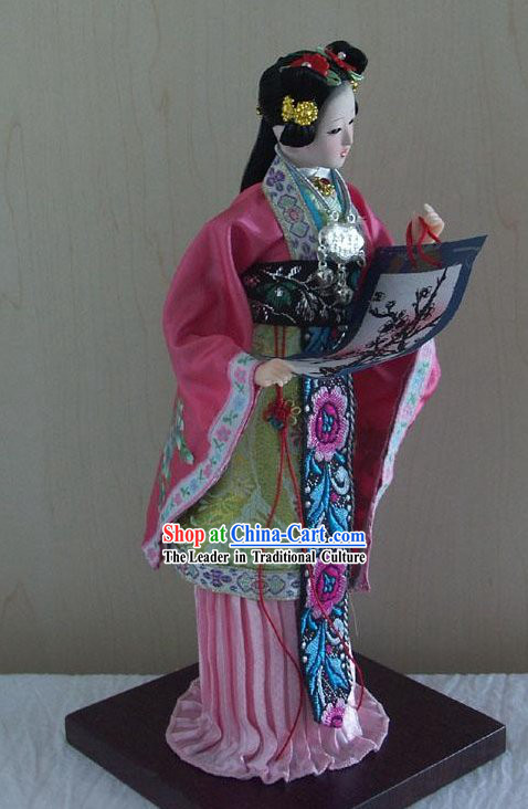 Handmade Peking Silk Figurine Doll - Jia Xichun in Dream of the Red Chamber