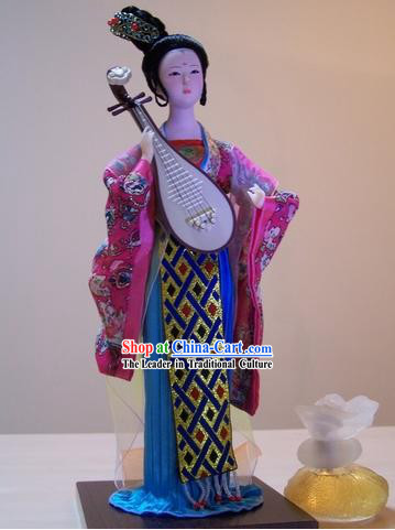 Handmade Peking Silk Figurine Doll - Tang Dynasty Beauty