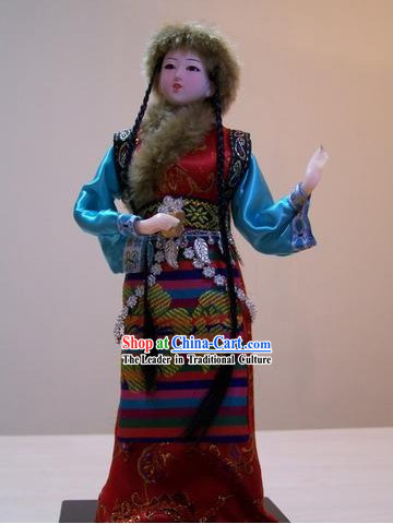 Handmade Peking Silk Figurine Doll - Tibet Beauty