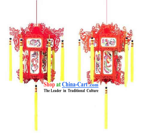 Chinese Paper Lantern - Dragon and Phoenix