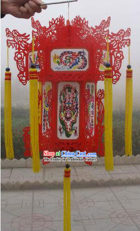 Large Hand Carved Chinese Traditional Paper Palace Lantern - Dragons (2 sets)
