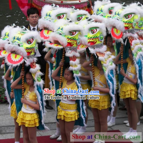 Happy New Year Celebration Traditional Lion Dance Costumes