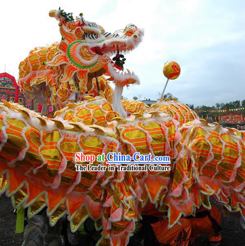 Supreme Business Opening and Happy Event Celebrations Dragon Dance Costumes Complete Set