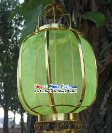 Chinese Classical Ancient Style Silk Iron Lantern