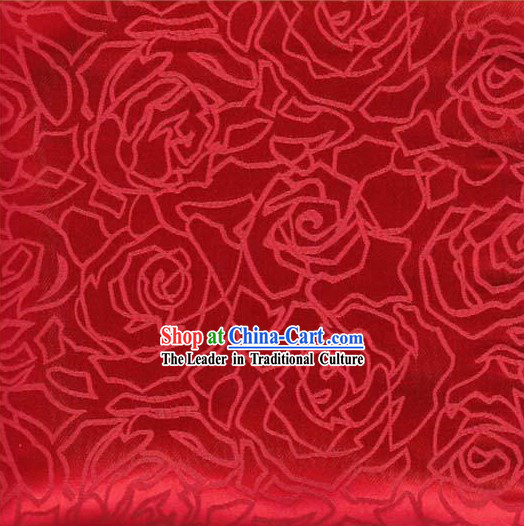 Traditional Chinese Red Flower Fabric