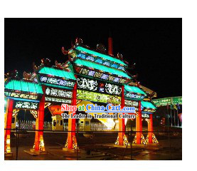 Large Theme Design Luminous Building and Statue Lanterns