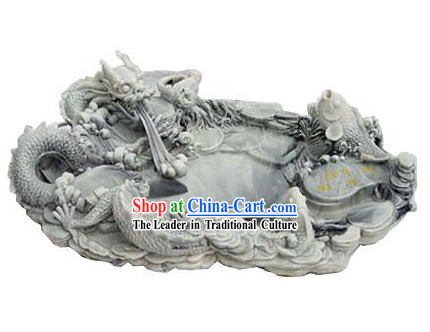 Chinese Stunning Hand Carved Dragon Tea Tray