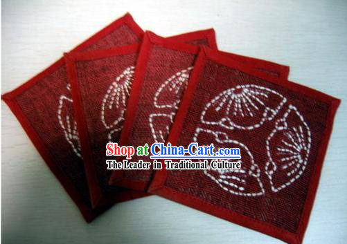 Chinese Classical Hand Made Tablemat for Batik Tablecloth _4 pieces set_