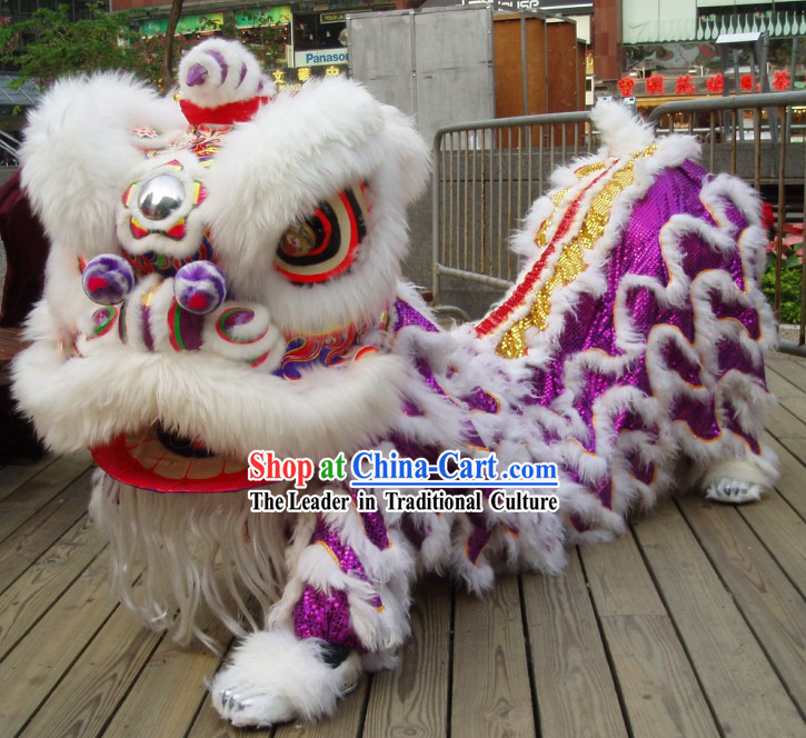 Supreme Competition and Festival Celebration Lion Dance Costume Complete Set