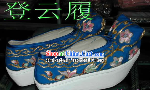 Chinese Beijing Classical Opera Shoes with Thick Soles for Women