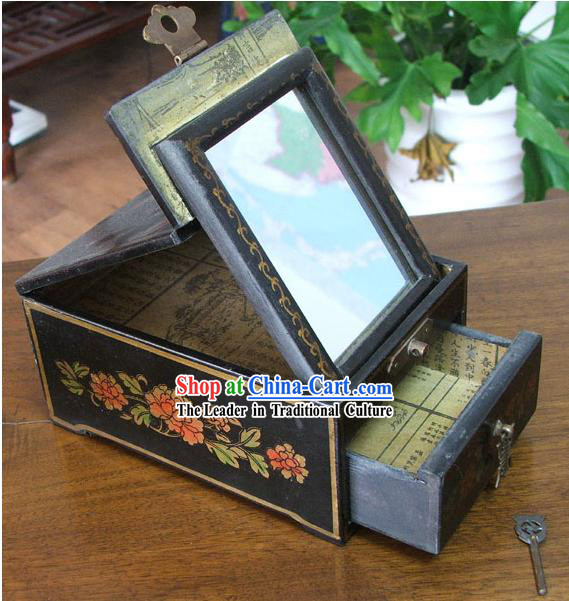 Archaize Chinese Colored Drawing Making Up Black Casket