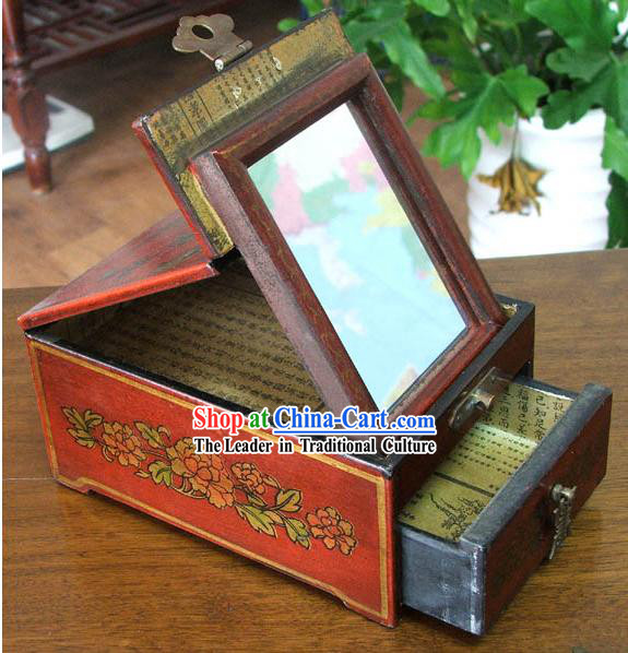 Archaize Chinese Colored Drawing Making Up Red Casket