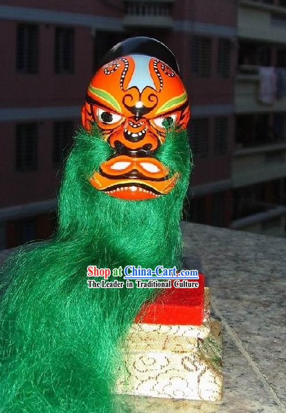 Chinese Classic Original Hand Puppet Head - Green Beard