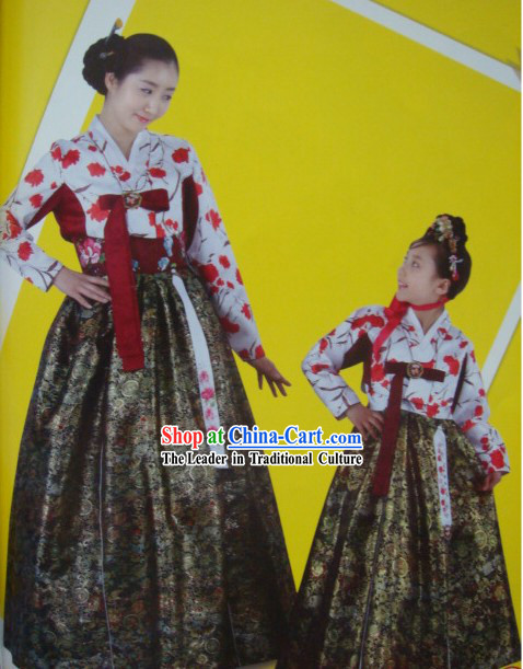 Korean Traditional Handmade Hanbok for Mother and Daughter (2 sets)