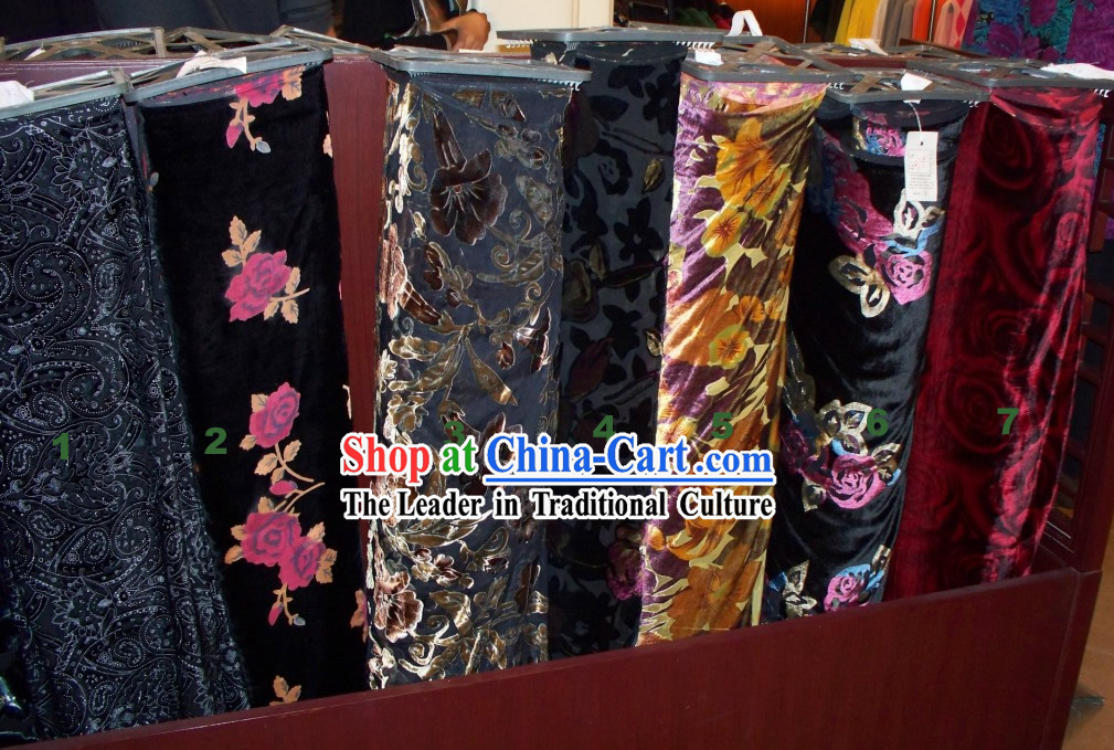 Chinese Classical Traditional Rui Fu Xiang Velvet Textile Fabric