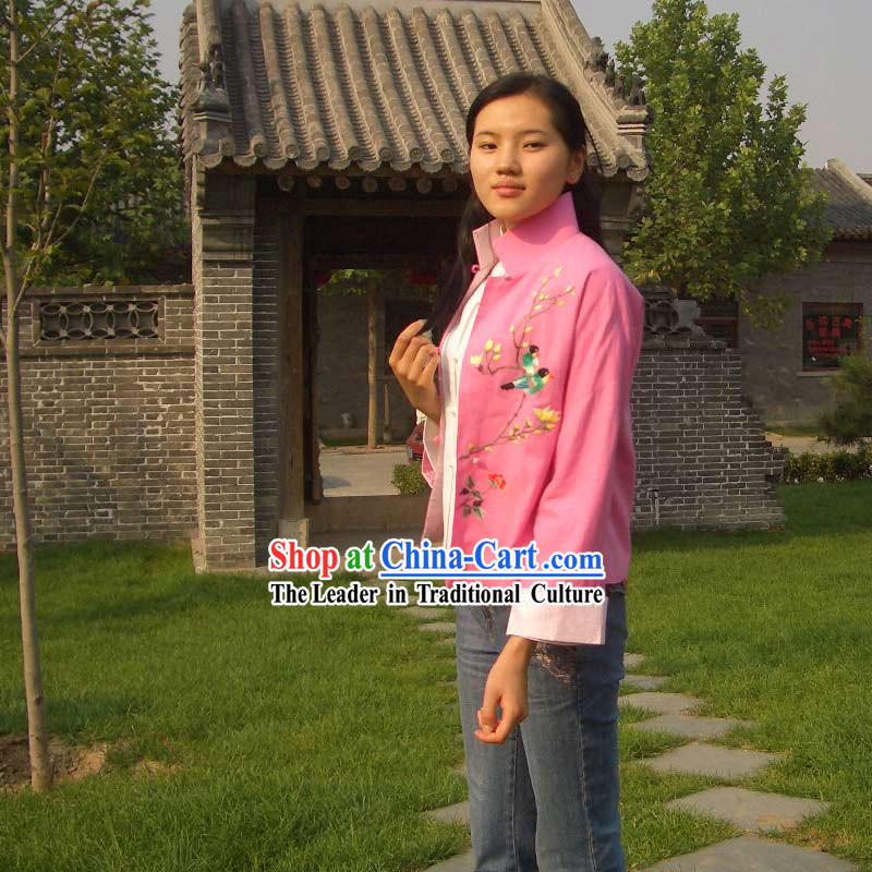 Stunning Chinese Delicate Cheong-sam Blouse (pink)