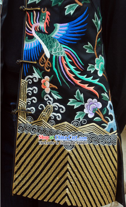 Supreme Chinese Handmade and Embroidered Phoenix Silk Blouse