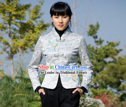 Chinese Traditional Handmade Flowery Cotton Clothing