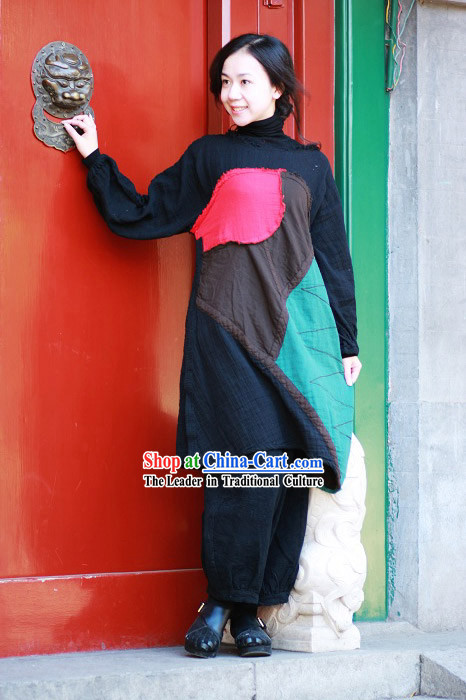 Chinese Classical Handmade Folk Cotton Blouse for Women