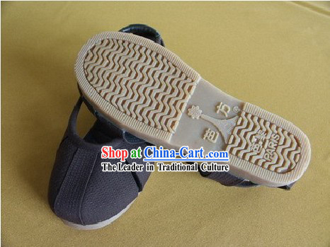 Traditional Monk Shoes of Shaolin Temple _black_