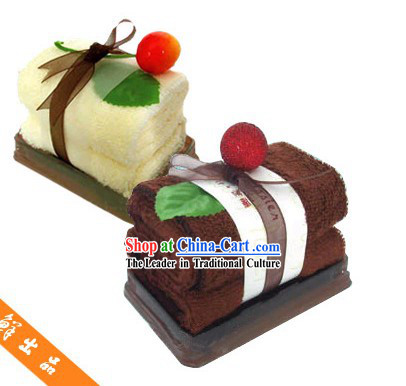Towel Cake Decoration - Christmas and New Year Gift