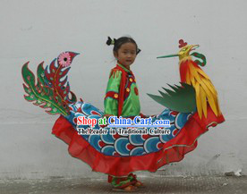 Chinese Traditional Handmade Phoenix Costumes for Children
