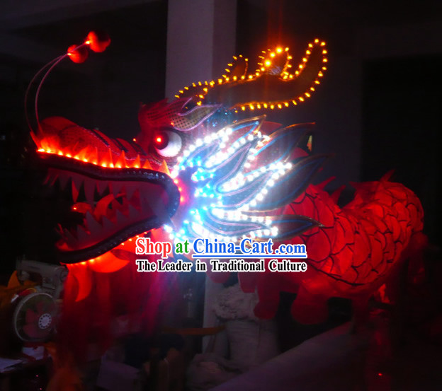 Electric LED Lights Luminous Happy Celebrations and Display Dragon Dance Costumes Complete Set