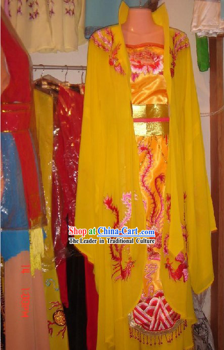 Chinese Ancient Palace Phoenix High Collar Costumes Complete Set