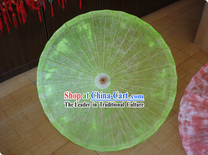 Chinese Traditional Hand Made Green Cloud Umbrella