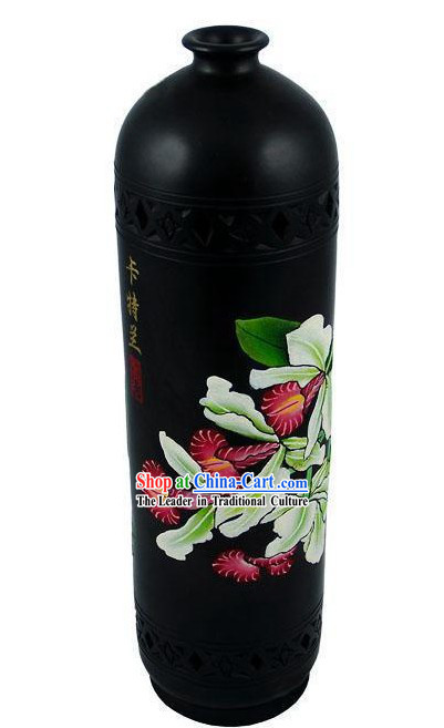 Chinese Traditional Longshan Black Pottery - Bowring Cattleya